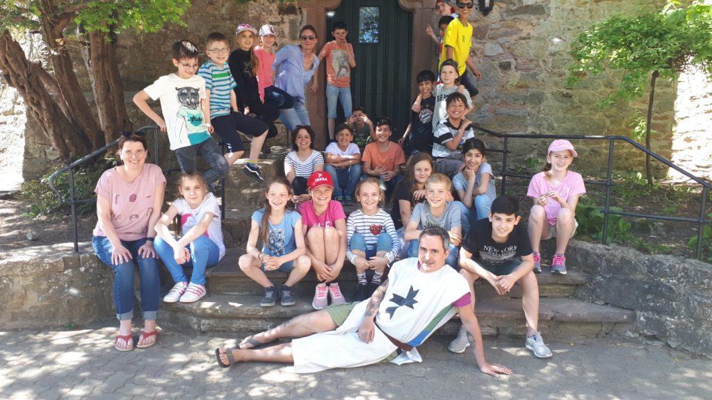 Gruppenfoto der Klassenfahrt 4a